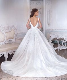 demetrios 2019 bridal sleeveless deep plunging v neck full embellishment princess glitzy a line wedding dress backless v back chapel train bv -- Platinum by Demetrios 2019 Wedding Dresses Gorgeous Wedding Dress, Cheap Wedding Dress, Dream Wedding Dresses, Wedding Gowns, Best Wedding Dress Designers, Designer Wedding Dresses, Wedding Dressses, Lace Ball Gowns, Pin Up
