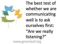 Servant Leadership - Listening