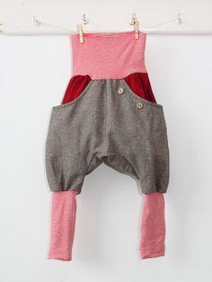 Petit cochon - Kinderkleidung, die mitwächst. Handarbeit aus Berlin! - Knickerbocker rot