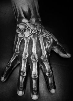 Bone Hand Tattoo, Skeleton Hand Tattoo, Hand Tats, Bone Tattoos, Skull Tattoos, Hand Bone, Koi Tattoo Sleeve, Half Sleeve Tattoos Drawings, Forearm Sleeve Tattoos