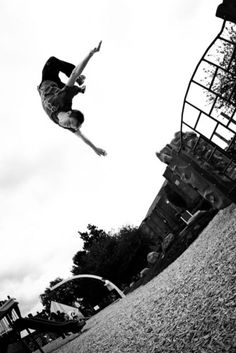 Parkour. Backflipping in Newmarket.