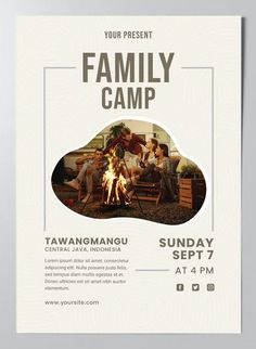 Family Camp Poster Template AI, EPS Family Camping, Lorem Ipsum, Poster Templates, Movie Posters, Film Poster, Billboard, Film Posters