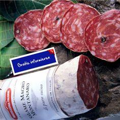 Magere Bergsalami aus Schweinefleisch. Hier klicken: http://blogde.rohinie.com/2013/01/wurst/ #Italien #Toskana #Salami #Bergsalami #mager #Pfeffer