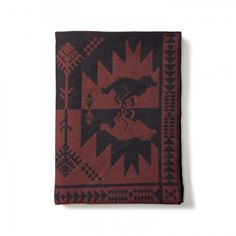 Running Wolf Blanket Eclectic Furniture Hunting Cabin Outdoor Parties Cabins
