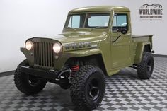 1948 Jeep Willys 4BT Cummings 5 Speed 4 Wheel Disc Frame Off | Worldwide Vintage Autos