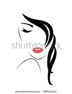 Find Young Woman Face Vector stock images in HD and millions of other royalty-free stock photos, illustrations and vectors in the Shutterstock collection. Thousands of new, high-quality pictures added every day. Female Face Drawing, Female Art, Music Drawings, Art Drawings, Salon Signs, Cute Cartoon Wallpapers, Art Sketchbook, Graphic Illustration, Line Art