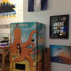 Custom Vending Machine Wrap. Designed by Ink Monstr Artist Nigh Hughes. @inkmonstr5280 @Nick Hughes #inkmontr