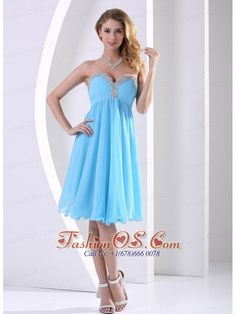 Buy aqua blue chiffon sweetheart beaded celebrity dresses for less in a line from discount celebrity dresses shop, sweetheart neckline empire prom knee length cocktail party homecoming graduation birthday party dress with zipper and . Junior Homecoming Dresses, Short Graduation Dresses, Prom Dresses Online, Cheap Prom Dresses, Pageant Dresses, Modest Dresses, Dress Online, Dama Dresses, Quince Dresses