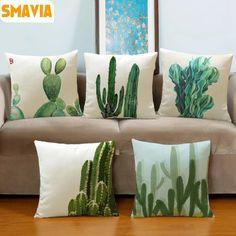 Cheap plants cushion, Buy Quality cushion cover directly from China fashion cushion covers Suppliers: SMAVIA Fashion Africa Tropical Plant Cushion Covers Cactus Pillowcase Seat Decor Car/Chair/Office Sofa Pillow Covers Sofa Pillow Covers, Decorative Pillow Covers, Pillow Cases, Cushion Pillow, Lumbar Pillow, Cactus Cushion, Diy Pillows, Cushions On Sofa, Throw Pillows