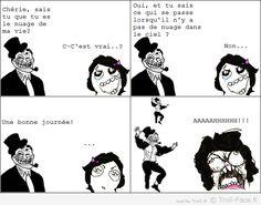 Le nuage de ma vie ! Troll Meme, Saitama One Punch, Rage Comics, Funny Moments, I Laughed, Jokes, Humor, Cool Stuff, Gabriel