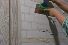 Кирпичная стена. Стиль лофт своими руками - Советы по ремонту Faux Brick Walls, Wall Finishes, Mosaic, Bedroom Decor, Loft, Diy, House Design, Interior, Handmade