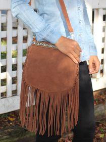 Roxy Fringe Bag in Tan   Ladies Clothing Online   Birdmotel