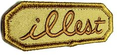 """[Single Count] Custom, Cool & Awesome {3"""" by 1"""" Inches} Small Rectangle Patriotic US Armed Forces Military Illest Text US Badge (Tactical Type) Velcro Patch """"Brown"""" mySimple Products"""