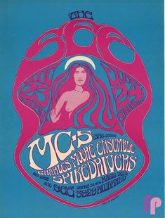 Classic Poster - at The See, Detroit, NI by Gary Grimshaw Rock Posters, Band Posters, Concert Posters, Music Posters, Psychedelic Typography, Psychedelic Music, Psychedelic Posters, Peace Poster, Psy Art