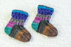 KNITTING PATTERN Baby Socks  Cute Baby Socks Lace by heaventoseven