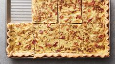 """Whether you're hosting Sunday brunch, bringing a dish to someone else's house or just need enough quiche to get you through the week, this """"made-for-a-crowd"""" slab version will do the trick."""