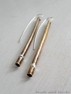 orecchini in ottone similoro e argento 925