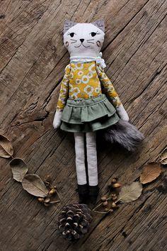 CAT RAG DOLL Handmade Children Gift Cat Plush by filomeluna