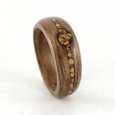 Walnut wood and shell ring    #engagement #engagementrings #jewelry #weddings #uniqueengagementrings