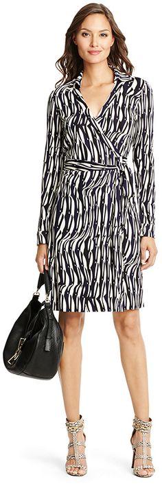 New Jeanne Two Silk Jersey Wrap Dress by Diane von Furstenberg