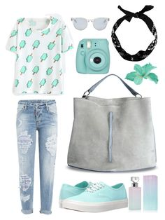 """""""Ice-cream. Mint look."""" by loony-lis ❤ liked on Polyvore featuring Dsquared2, Vans, Calvin Klein, Maison Margiela, Sun Buddies, New Look and Fujifilm"""