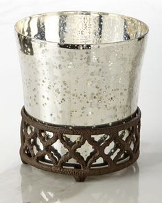 Mercury+Glass+Wastebasket+by+GG+Collection+at+Neiman+Marcus.