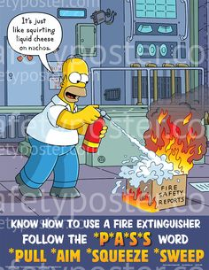 Machine Hazards Safety Posters - Simpsons Never Shortcut ...