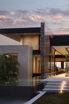 49 most popular modern dream house exterior design ideas 33 - Traumhaus Traditional Exterior, Modern Exterior, Modern Mansion Interior, Modern Architecture House, Architecture Design, Modern Houses, Modern House Exteriors, Library Architecture, Architecture Sketchbook