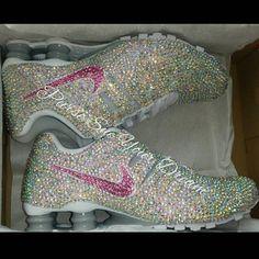 nike air max pas cher femme de thea - Custom Crystal Rhinstone Nike Shox Swarovski by PurseSueYourDream ...