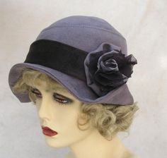 Roaring 20s Flapper Cloche Hat Vintage Style-wish I could pull this style off??? loving the 20's style