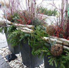 Du jardin dans vos décorations hivernales | Pinterest | Weihnachten