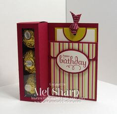 Ferrero Rocher Card using Stampin Up Perfect Punches