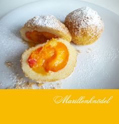 """A very special summer treat. The dough is made with """"Quark"""", kind of like Greek Joghurt, which is offered in Austria in all varieties for eating as well as some specially for baking. Filled with yellow plums, this is a light and refreshing dessert. Quark Recipes, Pastry Recipes, Gourmet Recipes, Dessert Recipes, Refreshing Desserts, Delicious Desserts, Austrian Recipes, Austrian Desserts, Austrian Food"""