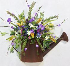 Spring Wildflower Watering Can