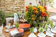 Decoração de mesa de feijoada (Foto: Karen Hofstetter / divulgação)