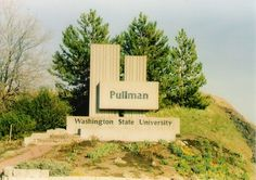 Just a simple road sign to let you know that you are in Cougar County Washington State University. Pullman,WA