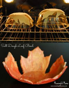 Salt dough leaf bowl.. www.meaningfulmama.com