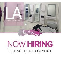 TAG YOUR FAVORITE LOS ANGELES HAIRSTYLIST! Booth Space is now Available at our West Hollywood location!!! We're looking for ROCK STAR hair extension/ haircare specialists  Licensed & professional individuals who are versatile in many extension methods!!!! l SERIOUS INQUIRIES ONLY Please email LA@HAIRAREUS.COM include resume /ig name & portfolio. BOOTH RENT ONLY! NO  COMMISSION SPLIT (Image above is our actual salon space) #lasalon #lasewins #laclosuresewin #laclosures #lahairstylist…