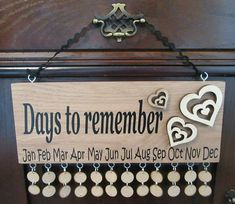 OAK WOOD Family Friends Birthday Board Reminder Calendar Wooden Oak Plaque in Home, Furniture & DIY, Home Decor, Plaques & Signs | eBay!
