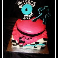 50's Elvis themed cake