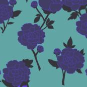 my Blue Peony at Spoonflower -- by LFN textiles