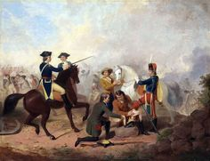 Washington and Lafayette at the Battle of Brandywine- by Junius Brutus Stearns