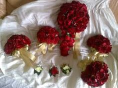 red gold wedding flowers - Google Search