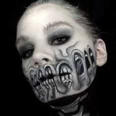 Love this work by @kdumont.makeup thank you for using our #tag #dupemag #creativemakeup #magazineforcreatives #mua #faceart #facepaint #facepainter #makeup #meltedskull