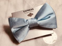 c81513714ac5 New fabric light blue silk express bow tie - brand new #fashion #clothing #