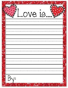 Love Is... Valentine's Day Writing Prompt