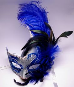 Details about New Venetian Masquerade Costume Ball Prom Dance Party Wedding Silver Blue Mask Blue Masquerade Masks, Masquerade Ball Dresses, Masquerade Outfit, Masquerade Costumes, Masquerade Party, Venice Mask, Prom Dance, Blue Mask, Venetian Masks