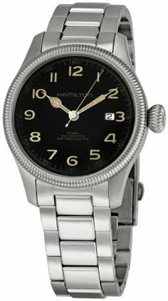 Hamilton Men's H60455133 Khaki Team Earth Black Dial Watch Hamilton. $537.72. Water-resistant to 330 feet (100 M). Durable sapphire crystal protects watch from scratches. Stainless-Steel case. Case diameter: 42 mm. Automatic movement