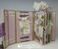 Created by Tiets: Scrap en Bep 11 mei 2016 Mini Albums Scrap, Mini Scrapbook Albums, Mini Photo Books, Stampin Up Anleitung, Baby Mini Album, Craft Tutorials, Journal Inspiration, Card Making, Paper Crafts
