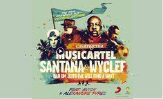 """#Martes del #Musicartel Mundialista con Carlos Santana y Wyclef con la canción """"Dar um Jeito""""!  https://www.youtube.com/watch?v=RkDXjPt-LQs"""